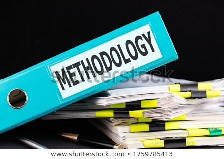 Methodology Concept with Word on Folder. Stock photo © tashatuvango