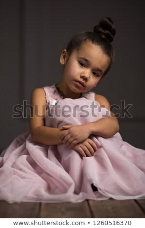 少女 · バルーン · 美しい · ピンク · 髪 - ストックフォト © konradbak