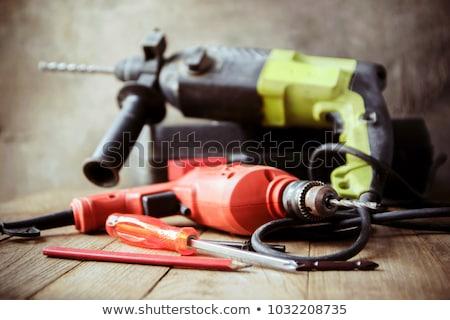 Werken tools houten hand werk werknemer Stockfoto © JanPietruszka