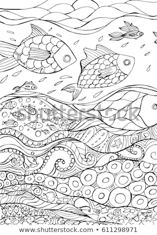 Children's maritime card vector illustration Stock photo © carodi
