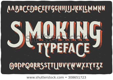 Smoking and vintage Stock photo © Novic