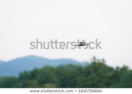 расплывчатый Flying аннотация технологий зеленый белый Сток-фото © PixelsAway