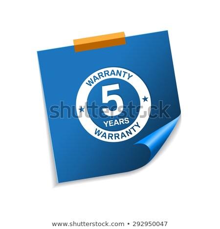 Anos garantia azul notas vetor ícone Foto stock © rizwanali3d