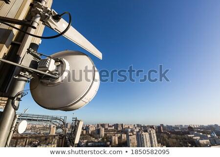 Telekommunikation Turm außerhalb Stadt modernen Zelle Stock foto © ironstealth