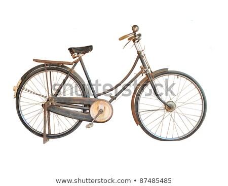old bicycle handlebar stock photo © valeriy