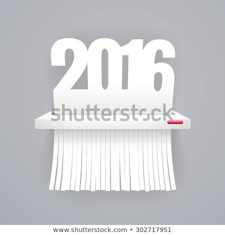 paper 2016 is cut into shredder on gray stock photo © voysla