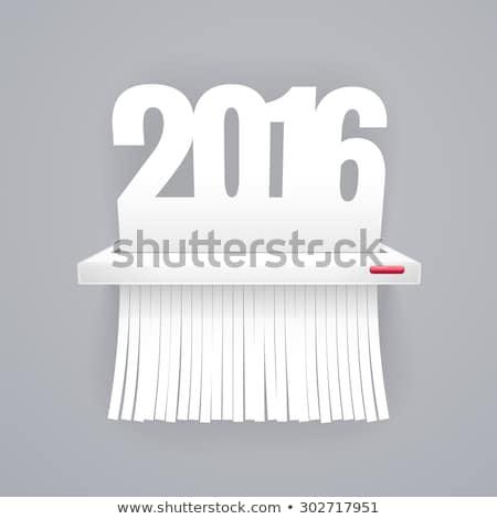 紙 2016 カット シュレッダー グレー jpg ストックフォト © Voysla
