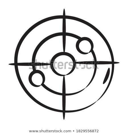 célkereszt · fehér · fegyver · vektor · szem · terv - stock fotó © rastudio