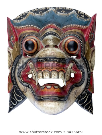 Ancient Sculpture of the Mythical Balinese Barong Stock photo © pzaxe