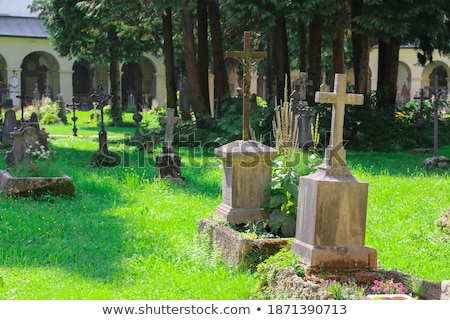 Histórico cementerio Austria Europa calle urbanas Foto stock © Spectral