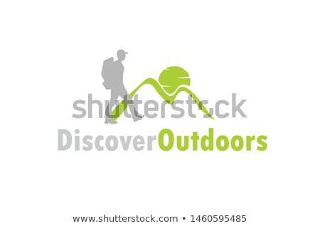 Saudável homem caminhada logotipo vetor ícone Foto stock © blaskorizov