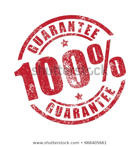 100 gwarantować pieczęć biały biuro tle Zdjęcia stock © fuzzbones0