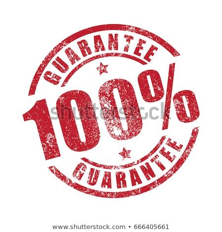 100 garantir tampon blanche bureau fond Photo stock © fuzzbones0