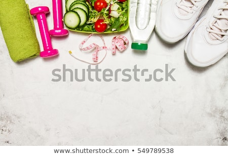 healthy lifestyle background with dumbbell stock photo © netkov1