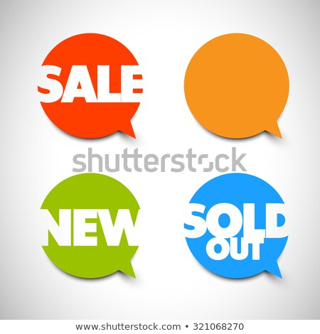 Speech bubble pointers for sale, new, sold items Stock photo © orson
