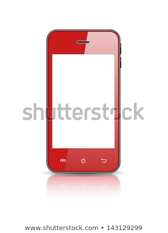 Smart Phone Red Vector Icon Button Stock photo © rizwanali3d