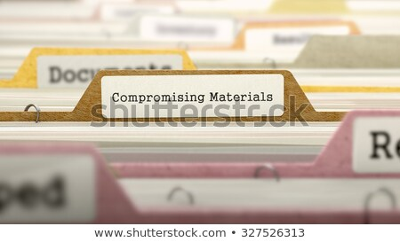 Folder in Catalog Marked as Compromising Materials. Stock photo © tashatuvango