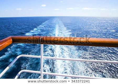 トレース クルーズ船 海 水 自然 背景 ストックフォト © smuki