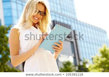 Retrato bastante negocios dama organizador atractivo Foto stock © Aikon