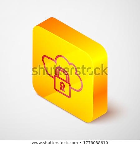 Ssl protegido amarelo vetor ícone botão Foto stock © rizwanali3d