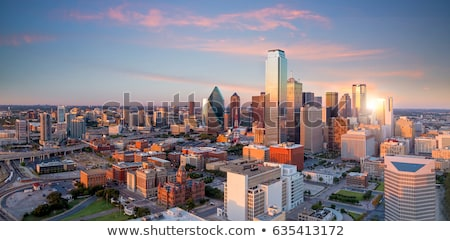 Stock photo: Dallas downtown city mirror skyscraper buildings