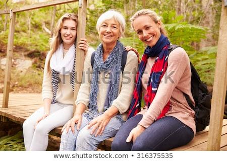 Kobiet trzy pokolenia jeden rodziny dziewczyna Zdjęcia stock © Paha_L