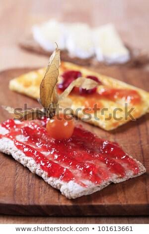 Crispbread with jam, marmalade and cheese Stock photo © Digifoodstock