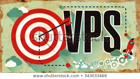VPS Word on Grunge Poster. Stock photo © tashatuvango