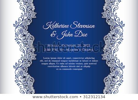 Vintage azul cobrir renda decoração Foto stock © liliwhite