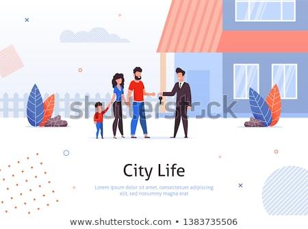 Couple Buying a House, illustration Stock photo © Morphart