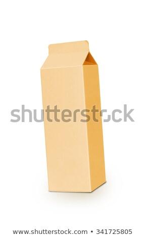 Geel melk vak liter geïsoleerd Stockfoto © shutswis