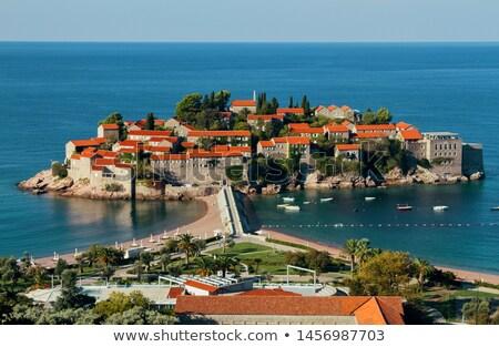 Sveti Stefan (St. Stefan) island in Adriatic sea, Montenegro Stock photo © vlad_star