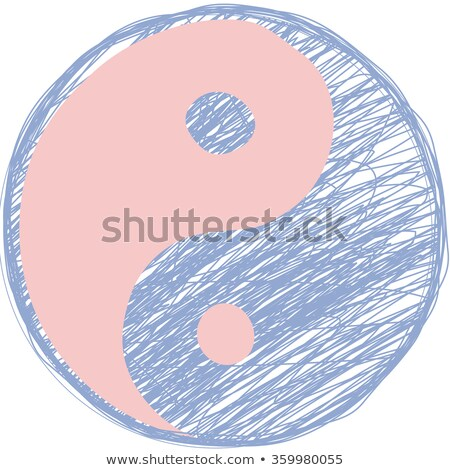 Doodle yin yang simbolo rosa quarzo serenità Foto d'archivio © gladiolus
