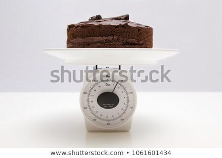 торт · Весы · избыточный · вес · конфеты · жира · еды - Сток-фото © Mikko
