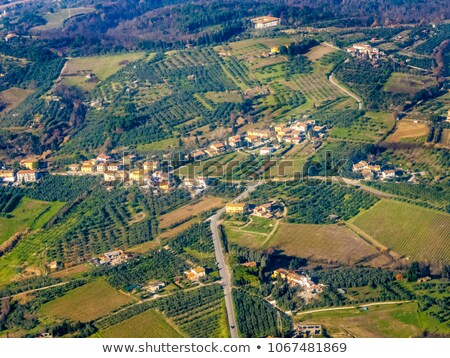 aerial of a small typical village in the Arezzo region Stock photo © meinzahn