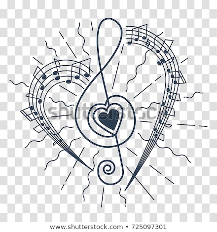 музыки отмечает форме сердце белый музыку дизайна Сток-фото © m_pavlov