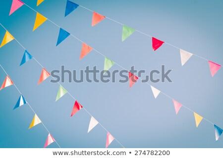 Buli zászlók égbolt klasszikus szűrő stock Stock fotó © nalinratphi