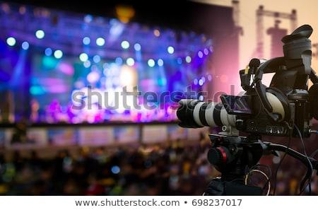 силуэта · концерта · этап · телевидение · работу - Сток-фото © zurijeta