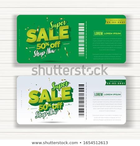 Super venda hoje pôsteres publicidade Foto stock © DavidArts