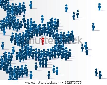 人 · 1 · 異なる · 多くの · 3次元の人々 - ストックフォト © grechka333