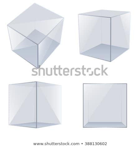 Stock photo: Empty glass cube