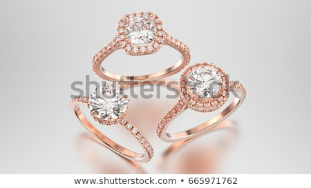 jewelry ring with three precious stone Stock photo © olykaynen