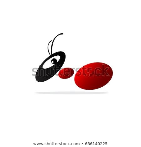 Simples vermelho formigas branco ilustração fundo Foto stock © bluering