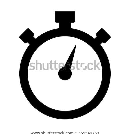 メカニカル · ストップウオッチ · 孤立した · 白 · 手 · 時計 - ストックフォト © pakete