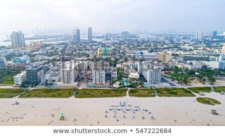 kilátás · Miami · belváros · éjszaka · különleges · iroda - stock fotó © lunamarina