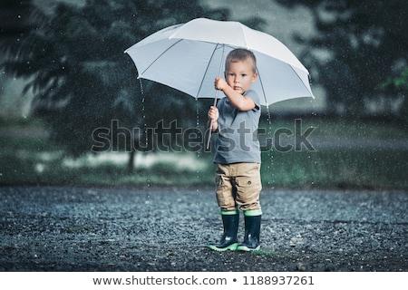 a boy with an umbrella stock photo © bluering