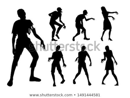 女性 ゾンビ 白 背景 徒歩 死んだ ストックフォト © bluering