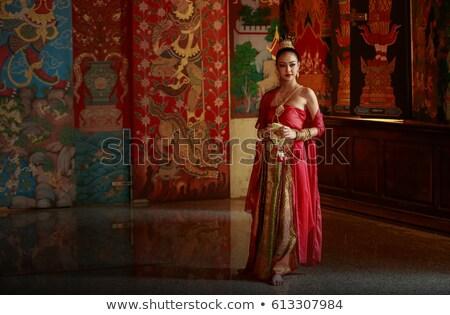 belle · asian · femme · anneau · bracelet · beauté - photo stock © dolgachov