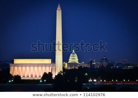 Монумент Вашингтона ночь поздно свечение City Lights лет Сток-фото © ambientideas