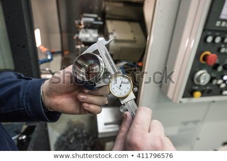 Metaal metalen oppervlak machine Stockfoto © jordanrusev